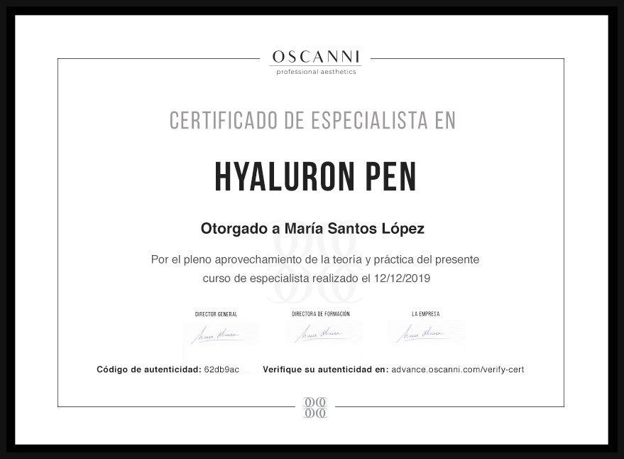 Diploma hyaluron Pen